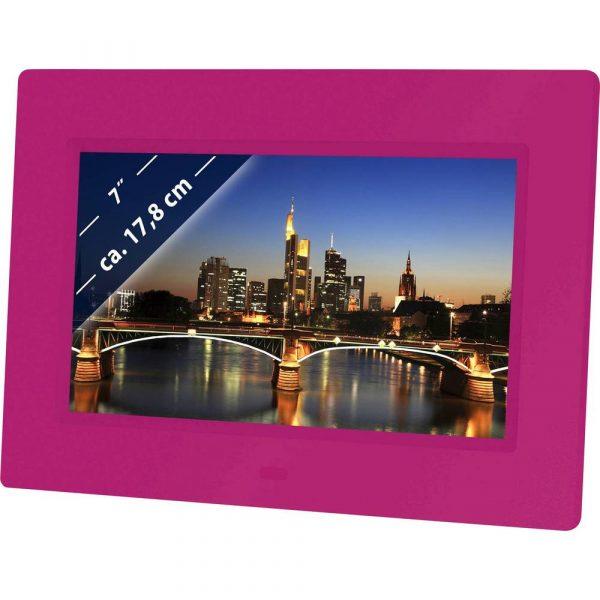 Braun Phototechnik DigiFrame 709 Digitale fotolijst 17.8 cm 7 inch 800 x 480 Pixel Pink